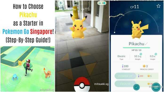 how to choose pikachu as a starter in pokemon go singapore