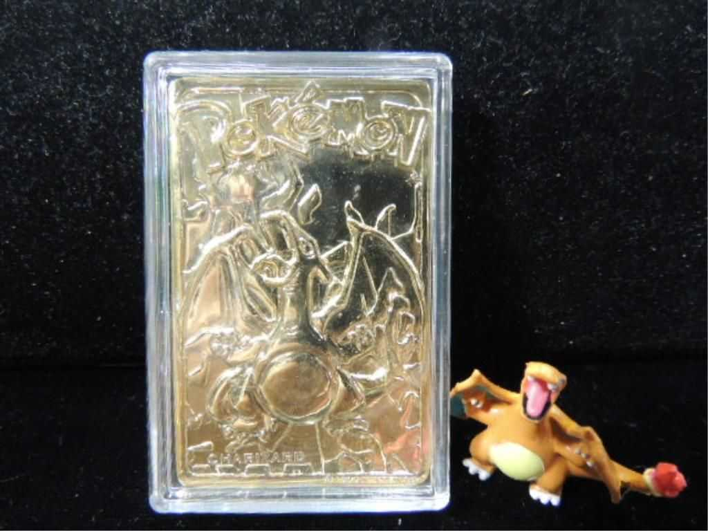 POKEMON 23K GOLD PLATED TRADING CARD IN CASE