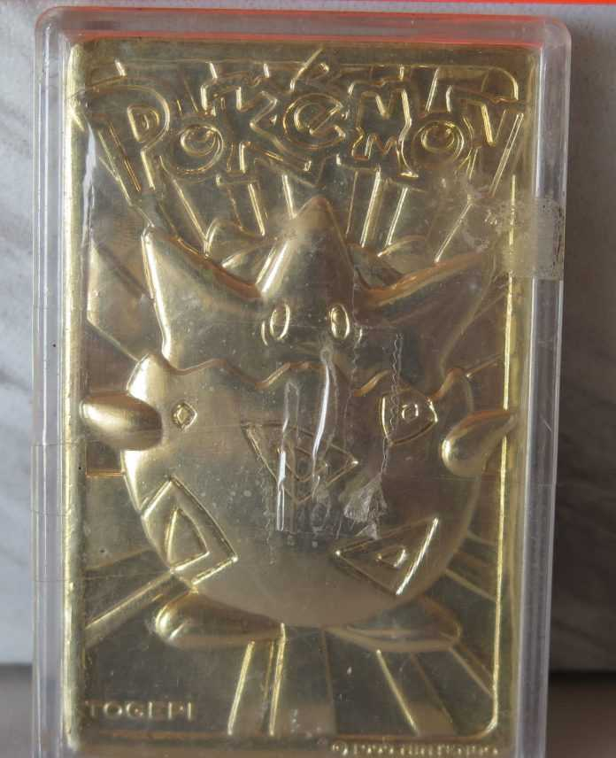 pokemon 23k gold plated trading card oahu auctions