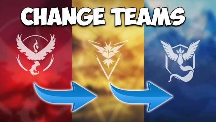 pokemon go you can change your team how to change teams